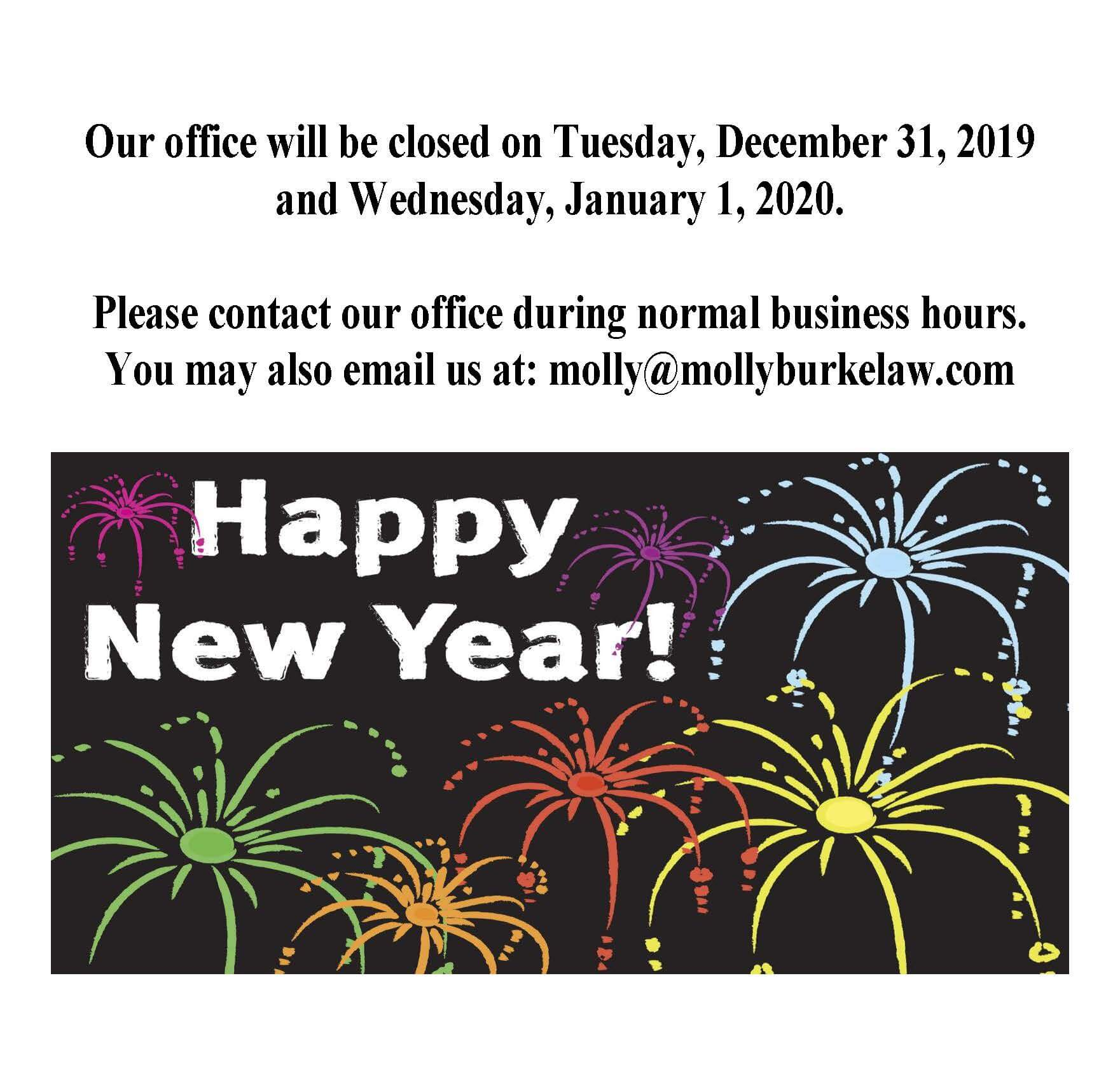Happy New Year Office Closed 45